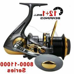 PULLINE 11000 Spinning Fishing Reel Saltwater 12+1BB Long Di