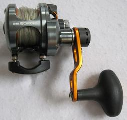 OKUMA ANDROS 5NII 2-SPEED FISHING REEL - LINE & CASE INCLUDE