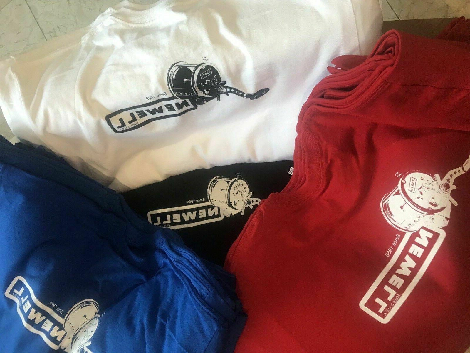 Newell Reels Shirt On Design- sizes L oldschool