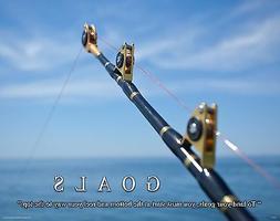 Salt Water Tuna Big Game Fishing Motivational Poster  Lures