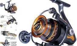 Sougayilang Spinning Reel - Freshwater and Saltwater Fishing