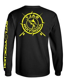 Salt Addiction t shirt long sleeve saltwater fishing apparel