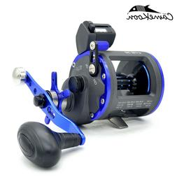 CAMEKOON Trolling Fishing Reel With Line Counter Star Drag S
