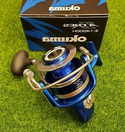 Okuma Z-14000H Blue Azores 14000 Saltwater Spinning Reel 5.4