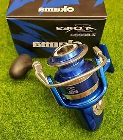 Okuma Z-8000H-BLUE Azores 8000 Saltwater Spinning Reel Front